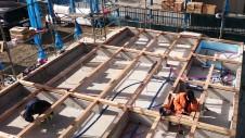 中央市に建つ日当たり良好で木のぬくもりを感じるお家 土台工事2