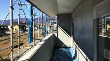 甲州市に建つ太陽光発電とお庭にこだわったお家 外装工事10