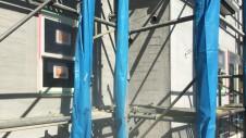 中央市に建つ日当たり良好で木のぬくもりを感じるお家 外装工事17