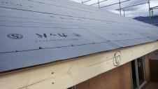 甲州市に建つ太陽光発電とお庭にこだわったお家 上棟工事10