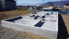 笛吹市に建つ広々フラットハウス 基礎工事3