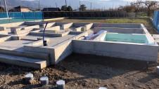 甲州市に建つ太陽光発電とお庭にこだわったお家 基礎工事4