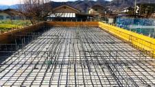 笛吹市に建つ広々フラットハウス 基礎工事1