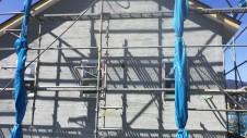 笛吹市に建つ広々フラットハウス 外装工事10