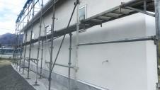 笛吹市に建つ広々フラットハウス 外装工事11