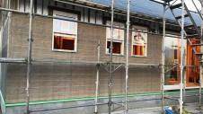 笛吹市に建つ広々フラットハウス 外装工事5