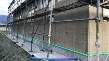 笛吹市に建つ広々フラットハウス 外装工事6