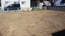 昭和町に建つねこちゃんと暮らすかわいいフラットハウス 地盤調査1