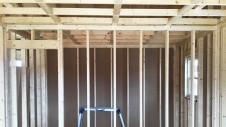 笛吹市に建つ広々フラットハウス 上棟作業6
