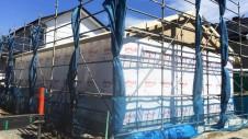 昭和町に建つねこちゃんと暮らすかわいいフラットハウス 上棟作業⑤