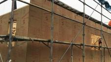 笛吹市に建つ広々フラットハウス 上棟作業2