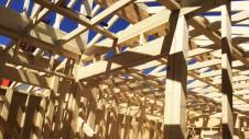 昭和町に建つねこちゃんと暮らすかわいいフラットハウス 上棟作業6
