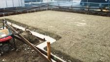 昭和町に建つねこちゃんと暮らすかわいいフラットハウス 基礎工事1