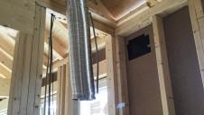 笛吹市に建つ広々フラットハウス 内装工事2
