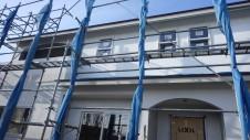 中央市に建つ、視線素材の漆喰を使った塗り壁がかわいいお家