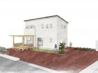 甲府市に建つ、ウッドデッキのあるおしゃれなお家