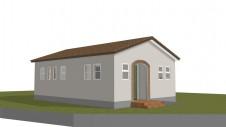 甲斐市に建つ、おしゃれなステンドグラス教室のあるアトリエ